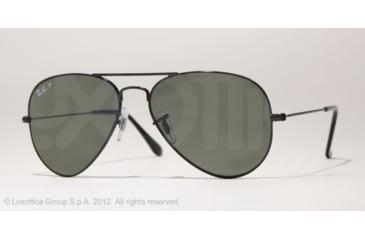 Ray-Ban Aviator Large Metal Prescription Sunglasses RB3025 RB3025-002-58-55 - Lens Diameter 55 mm, Frame Color Black