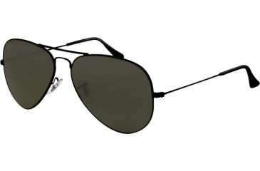 Ray-Ban Aviator Large Metal Bifocal Sunglasses RB3025 with Lined Bi-Focal Rx Prescription Lenses RB3025-002-58-6214 - Lens Diameter - 62 mm, Frame Color - Black