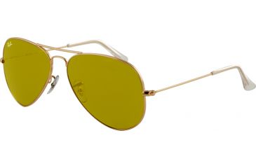 Ray-Ban RB3025 Bifocal Sunglasses - Gold Frame / 58 mm Prescription Lenses, W3276-5814