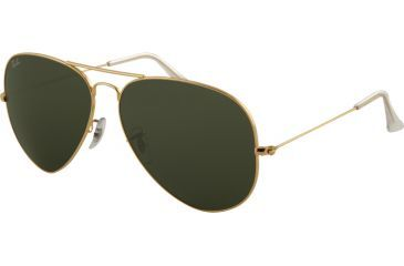 Ray-Ban RB 3026 Large Aviator Sunglasses, Arista Frame, Crystal Gray Lenses, L2846-6214