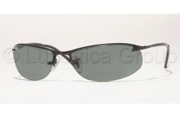 9b2f7a7b10 Ray-Ban RB 3179 Sunglasses Styles - Matte Black Frame   Green Lenses