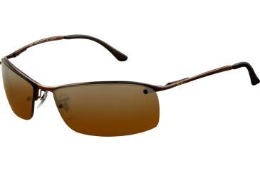 Ray-Ban RB 3183 Sunglasses, Brown Frame / Polarized Brown Pol. Grad. Silver Mirror Lenses, 014-84-6315