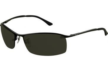 Ray-Ban RB 3183 Sunglasses, Matte Black Frame / Green Lenses, 006-71-6315