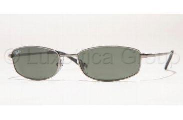 Ray-Ban RB 3198 Sunglasses Styles - Gunmetal Frame / Crystal Green Lenses, 004-5518