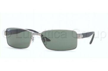 Ray-Ban RB 3272 Sunglasses Styles - Gunmetal Frame / Crystal Green Lenses, 004-5817