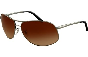 Ray-Ban RB 3387 Sunglasses, Gunmetal Frame / Brown Gradient 67 mm Lenses, 004-13-6715