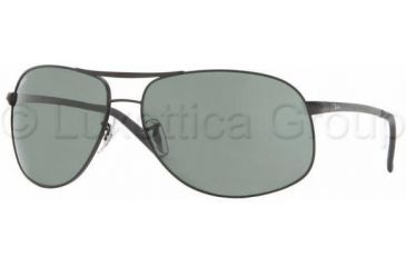 8fefe9cea Ray-Ban RB 3387 Sunglasses Styles - Matte Black Frame / Green 67 mm Diameter