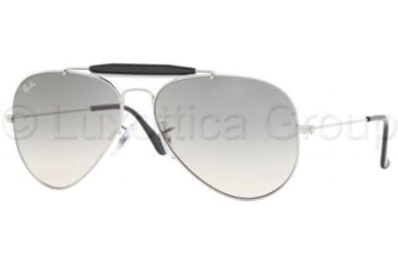Ray-Ban RB3407 Bifocal Sunglasses - Silver Frame / 55 mm Prescription Lenses, 003-32-5514