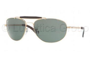 3efe2aba5b Ray-Ban RB3423 Progressive Sunglasses - Arista Frame w  Crystal Green 60 mm  Diameter