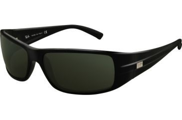 Ray-Ban RB 4057 Sunglasses, Black Frame / Crystal Green Lenses, 601-6116