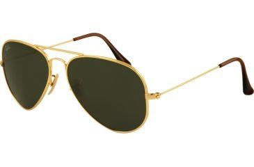 Ray-Ban RB8041 Bifocal Sunglasses - Gold Frame / 55 mm Prescription Lenses, 001-5514