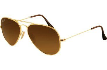 Ray-Ban Bifocal Sunglasses RB8041 with Lined Bi-Focal Rx Prescription Lenses RB8041-001-M2-5814 - Lens Diameter: 58 mm, Frame Color: Shiny Gold