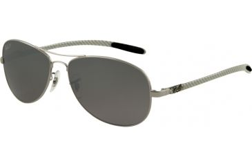 Ray-Ban RB 8301 Sunglasses Styles - Gunmetal Frame, Polar Cry. Gray Mirror Silver Grad. 59 mm Lens, 004-N8-5914