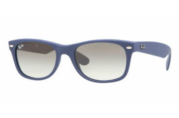 Ray-Ban New Wayfarer Sunglasses, Blue Rubber Frame, Gray Gradient #811-32-5218