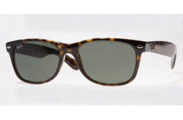 Ray-Ban New Wayfarer Sunglasses, Tortoise Frame, Green Lens #902L-5518