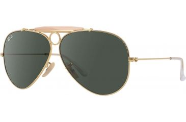 779649ffbae29 Ray-Ban RB 3138 Sunglasses Styles - Arista Frame   Crystal Green 58 mm  Diameter