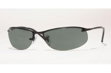 Ray Ban RB3179 #006/71 - Matte Black Frame, Green Lenses