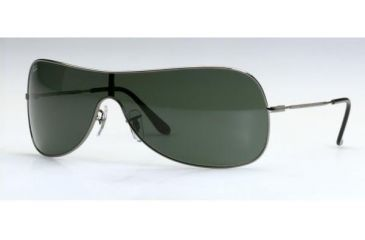 Ray-Ban RB 3211 Sunglasses Styles - Gunmetal Frame Green Lens