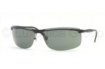 Ray-Ban RB3308 Sunglasses 006/71-6710 - Matte Black Green
