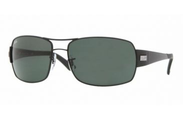 Ray Ban RB3426 #006/71 - Matte Black Frame, Green Lenses