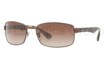 Ray-Ban RB3478 Single Vision Prescription Sunglasses RB3478-014-51-6317 - Lens Diameter 63 mm, Frame Color Brown