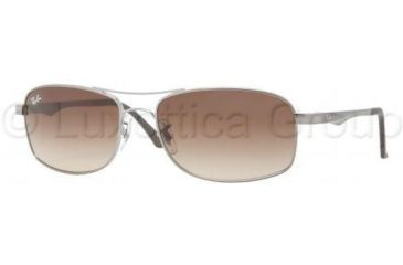 Ray-Ban RB3484 Single Vision Prescription Sunglasses RB3484-004-51-6317 - Lens Diameter 63 mm, Frame Color Gunmetal