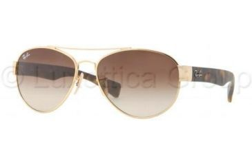Ray-Ban RB3491 Sunglasses 001/13-5615 - Arista Frame, Brown Gradient Lenses