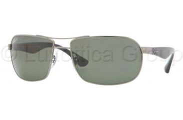 Ray-Ban RB3492 Sunglasses 004/58-6216 - Gunmetal Frame, Crystal Green Lenses