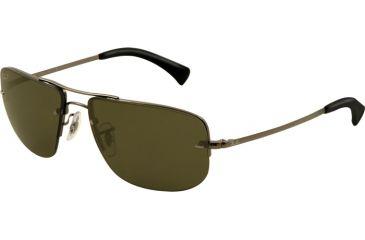 Ray-Ban RB3497 Sunglasses- Gunmetal Frame, Green Lenses 004/9A-5916