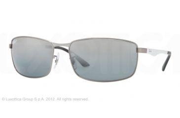 Ray-Ban RB3498 Sunglasses 029/82-6117 - Matte Gunmetal Frame, Polarized Gray Mirror Silver Gradient Lenses