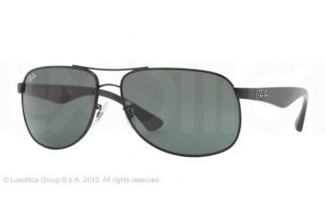 Ray-Ban RB3502 Sunglasses 002-6114 - Black Frame, Crystal Green Lenses