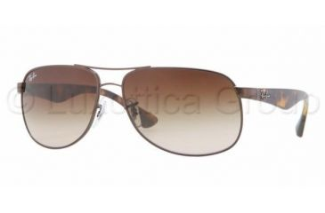 Ray-Ban RB3502 Sunglasses 014/85-6114 - Brown Frame, Gradient Brown Lenses