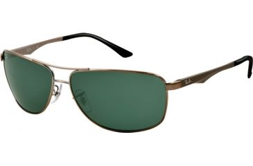 Ray-Ban RB3506 Sunglasses 004/71-64 - Gunmetal Frame, Green Lenses