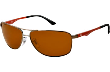 Ray-Ban RB3506 Sunglasses 132/83-64 - Gunmetal Frame, Polar Brown Lenses