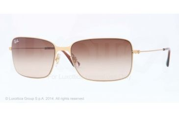 Ray-Ban RB3514 Progressive Prescription Sunglasses RB3514-149-13-58 - Lens Diameter 58 mm, Frame Color Sad Demi Glos Gold