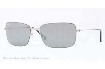 Ray-Ban RB3514 Progressive Prescription Sunglasses RB3514-154-6G-58 - Lens Diameter 58 mm, Frame Color Sand Demi Glos Silver