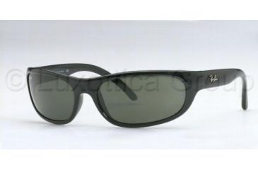 Ray-Ban RB4033 Sunglasses 601-6017 - Black Crystal Green