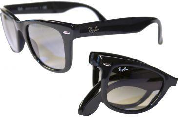 ray ban rb4105 folding wayfarer sunglasses light havana frame cr