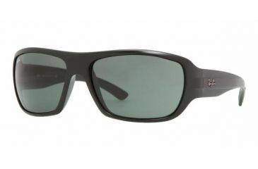 Ray Ban RB4150 #601S - Matte Black Frame, Crystal Green Lenses