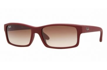 Ray Ban RB4151 #816/51 - Red Beet Rubberize Frame, Crystal Brown Gradient Lenses
