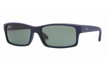 Ray Ban RB4151 #817 - Blue Downpour Rubberize Frame, Crystal Green Lenses