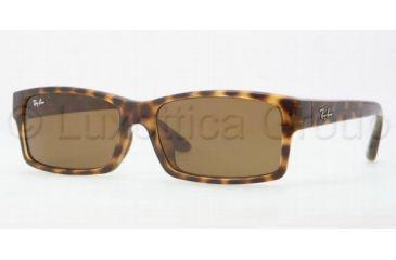 Ray-Ban RB4151F Sunglasses 710/73-5917 - Shiny Havana Frame, Brown Lenses