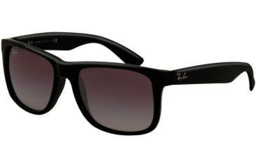 Ray-Ban RB4165 Sunglasses 601/8G-5116 - Black Rubber Frame, Gray Gradient Lenses