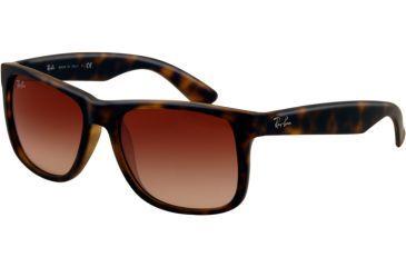 Ray-Ban RB4165 Sunglasses 710/13-5516 - Rubber Light Havana Frame, Brown Gradient Lenses