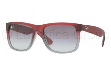 Ray-Ban JUSTIN RB4165 Progressive Prescription Sunglasses RB4165-856-11-5416 - Lens Diameter 54 mm, Frame Color Rubber Red/Grey Trasparent