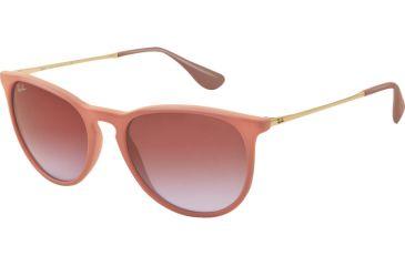 Ray-Ban ERIKA RB4171 Single Vision Prescription Sunglasses RB4171-600068-5418 - Lens Diameter 54 mm, Frame Color Dark Sand Rubber