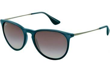 Ray-Ban ERIKA RB4171 Single Vision Prescription Sunglasses RB4171-60028G-5418 - Lens Diameter 54 mm, Frame Color Blue Rubber