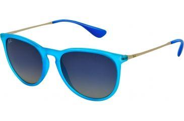 Ray-Ban ERIKA RB4171 Single Vision Prescription Sunglasses RB4171-60234L-5418 - Lens Diameter 54 mm, Frame Color Rubber Azure