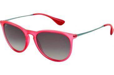 Ray-Ban ERIKA RB4171 Single Vision Prescription Sunglasses RB4171-602711-5418 - Lens Diameter 54 mm, Frame Color Transparent Coral Rubber