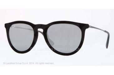 Ray-Ban ERIKA RB4171 Single Vision Prescription Sunglasses RB4171-60756G-54 - Lens Diameter 54 mm, Frame Color Velvet Black